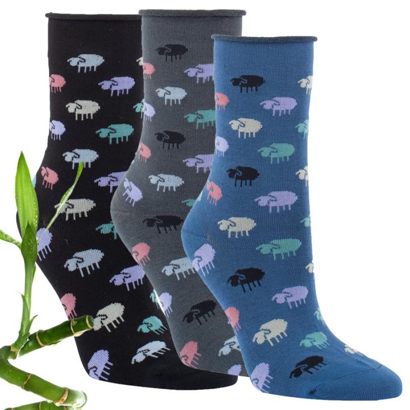 1c77e57318f Dámské bambusové ponožky Ovečky